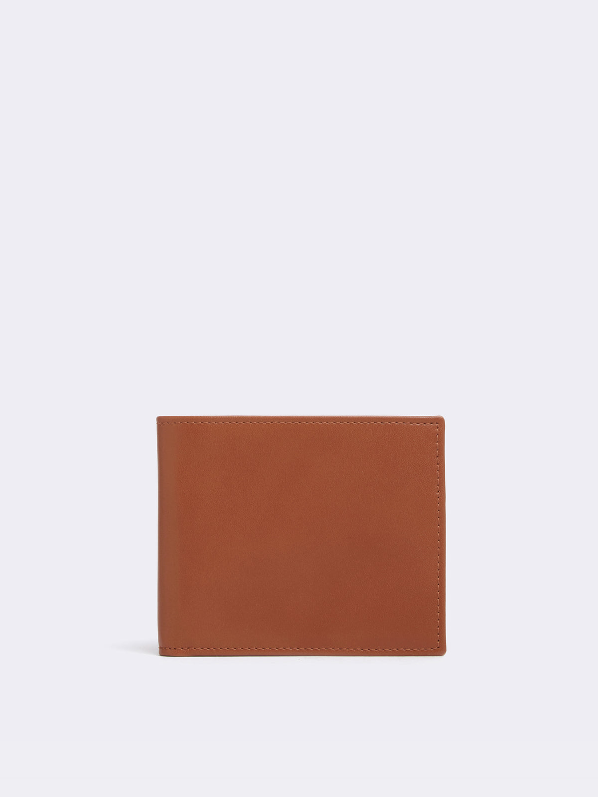 Mark Cross Bi-Fold Leather Wallet Smooth Calf Tan Front