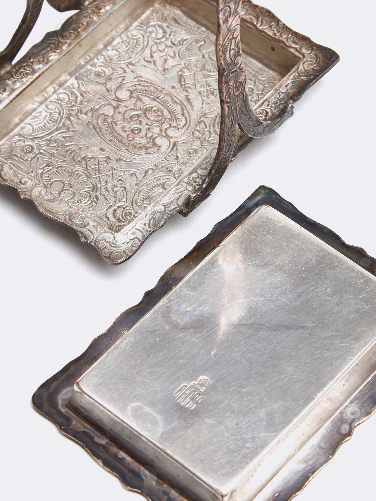 Mark Cross Archive Silver Plate Portable Ashtray Silver Detail