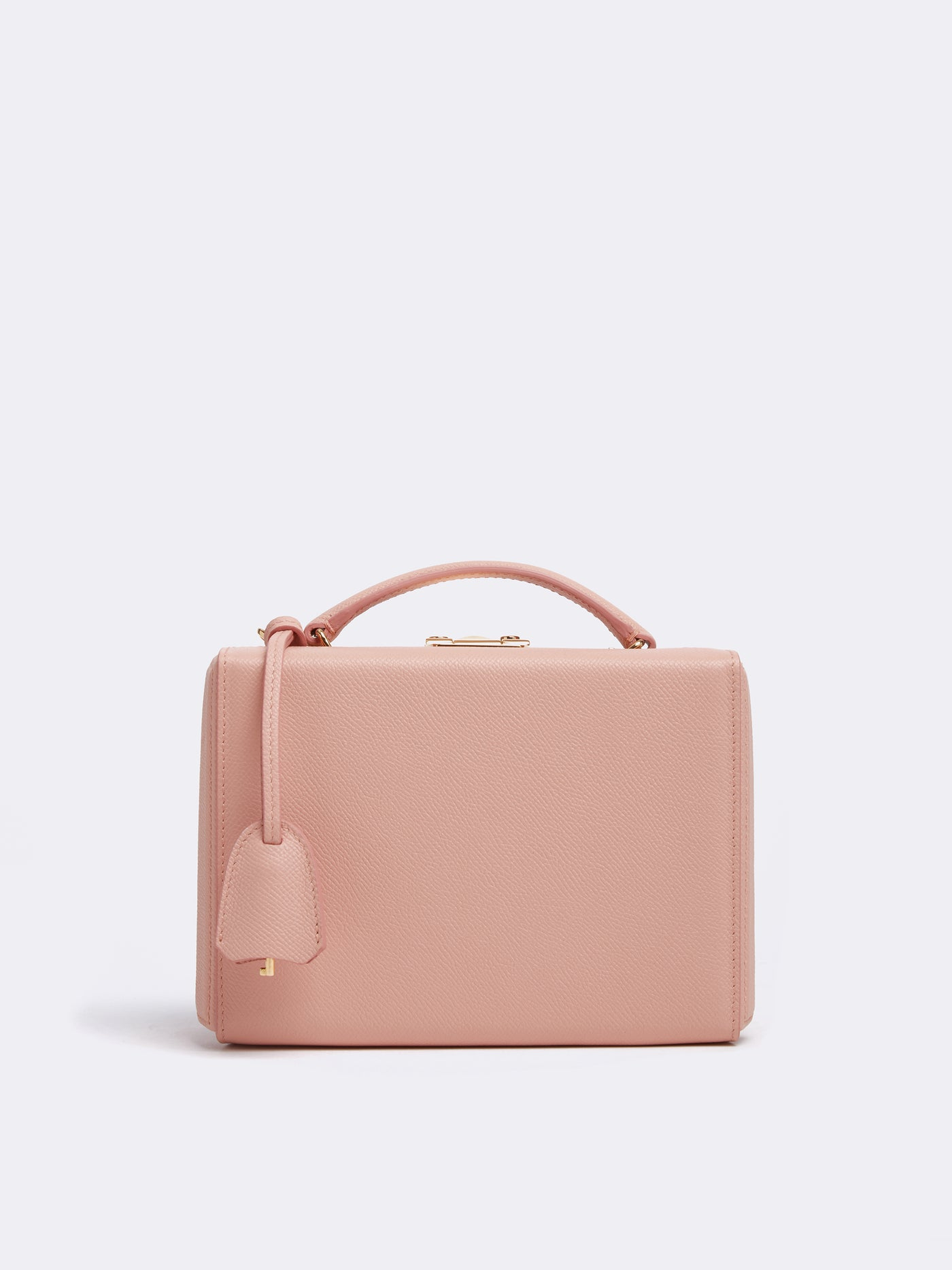 Mark Cross Grace Small Leather Box Bag Soft Saffiano Blush Front