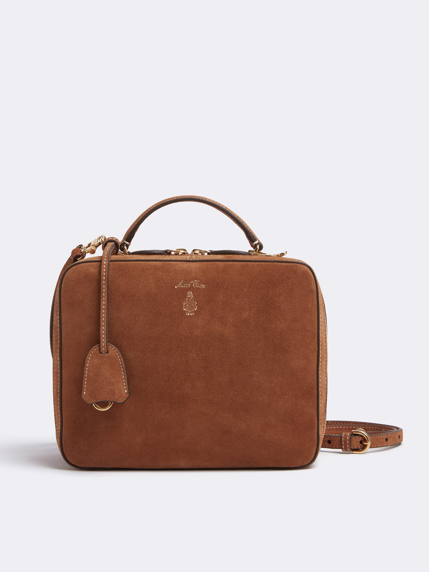 Laura Suede Crossbody Bag