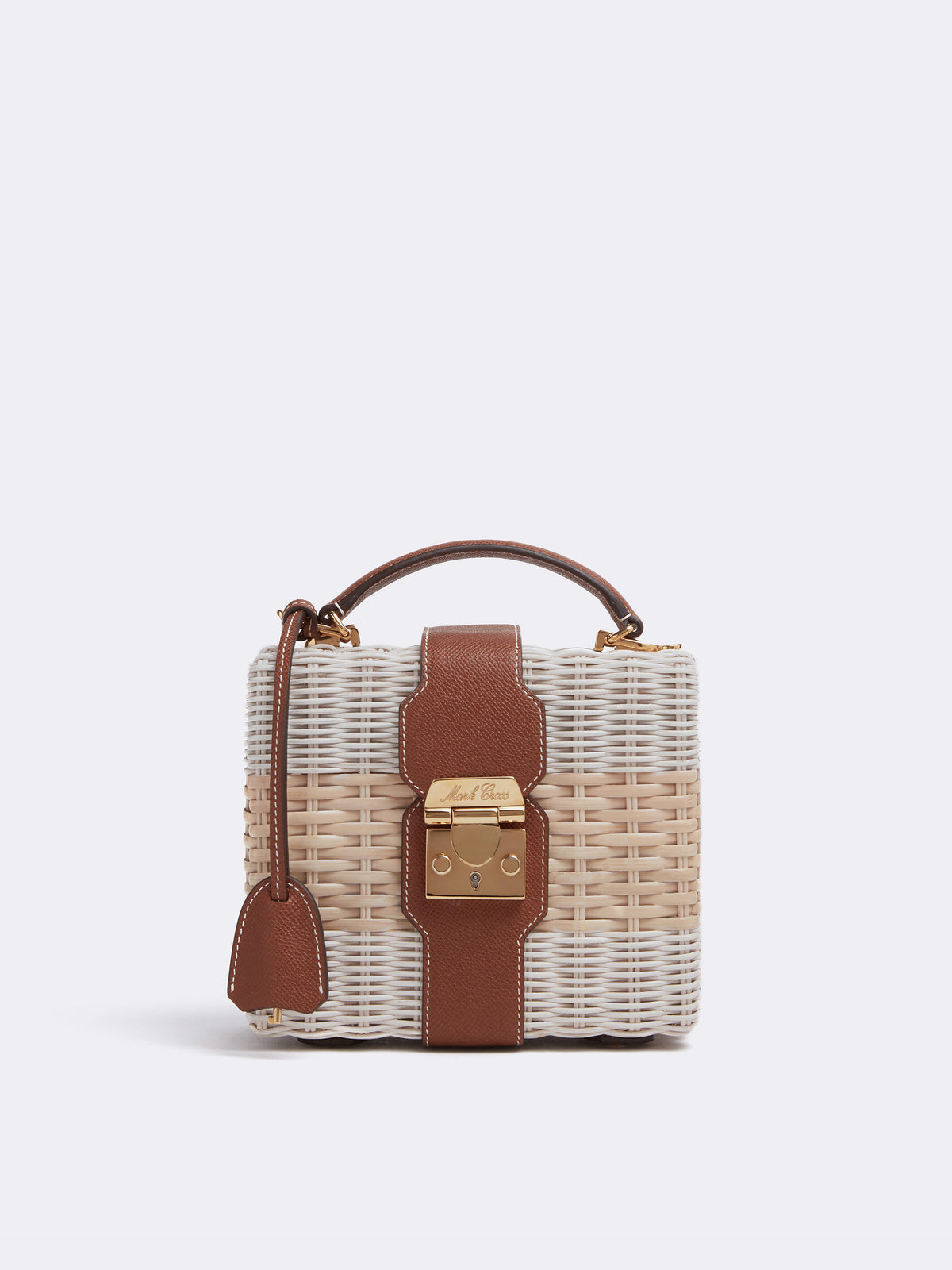 Harley Rattan & Leather Bag