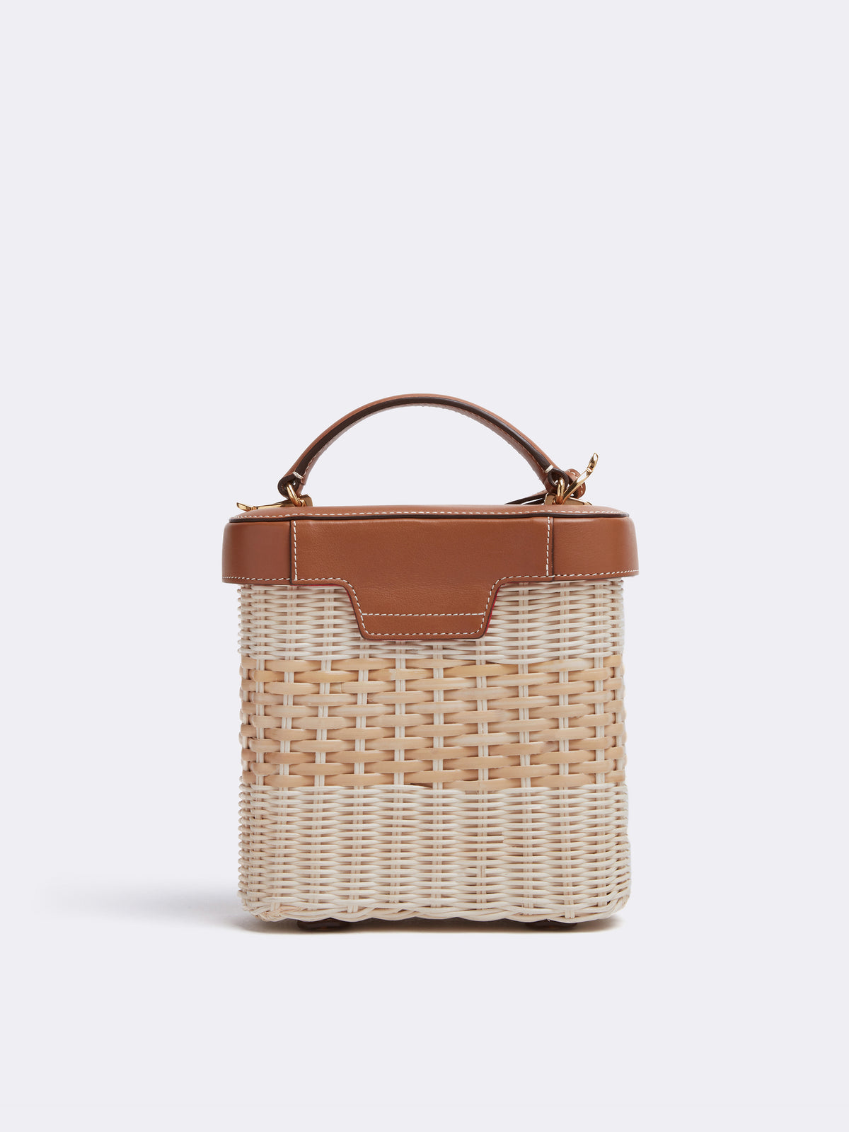 Benchley Rattan & Leather Bag