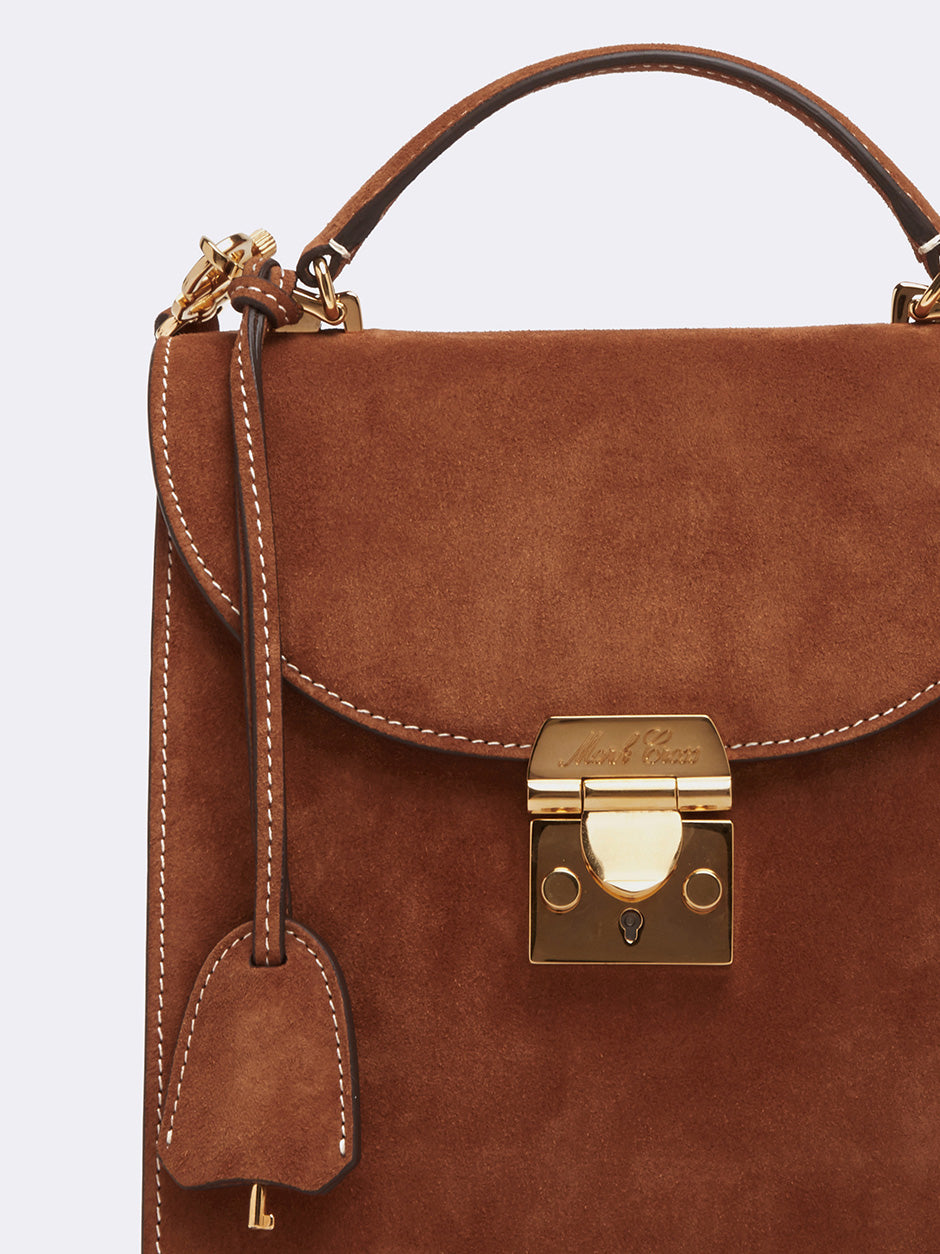 Mark Cross Uptown Suede Crossbody Bag Suede Acorn Detail