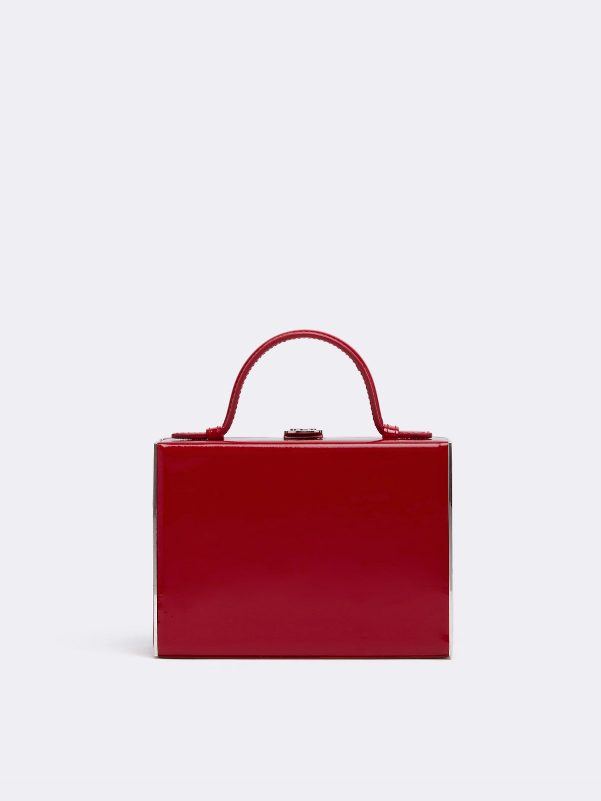 Mark Cross Rear Window Evening Leather Bag Soft Patent Red Front