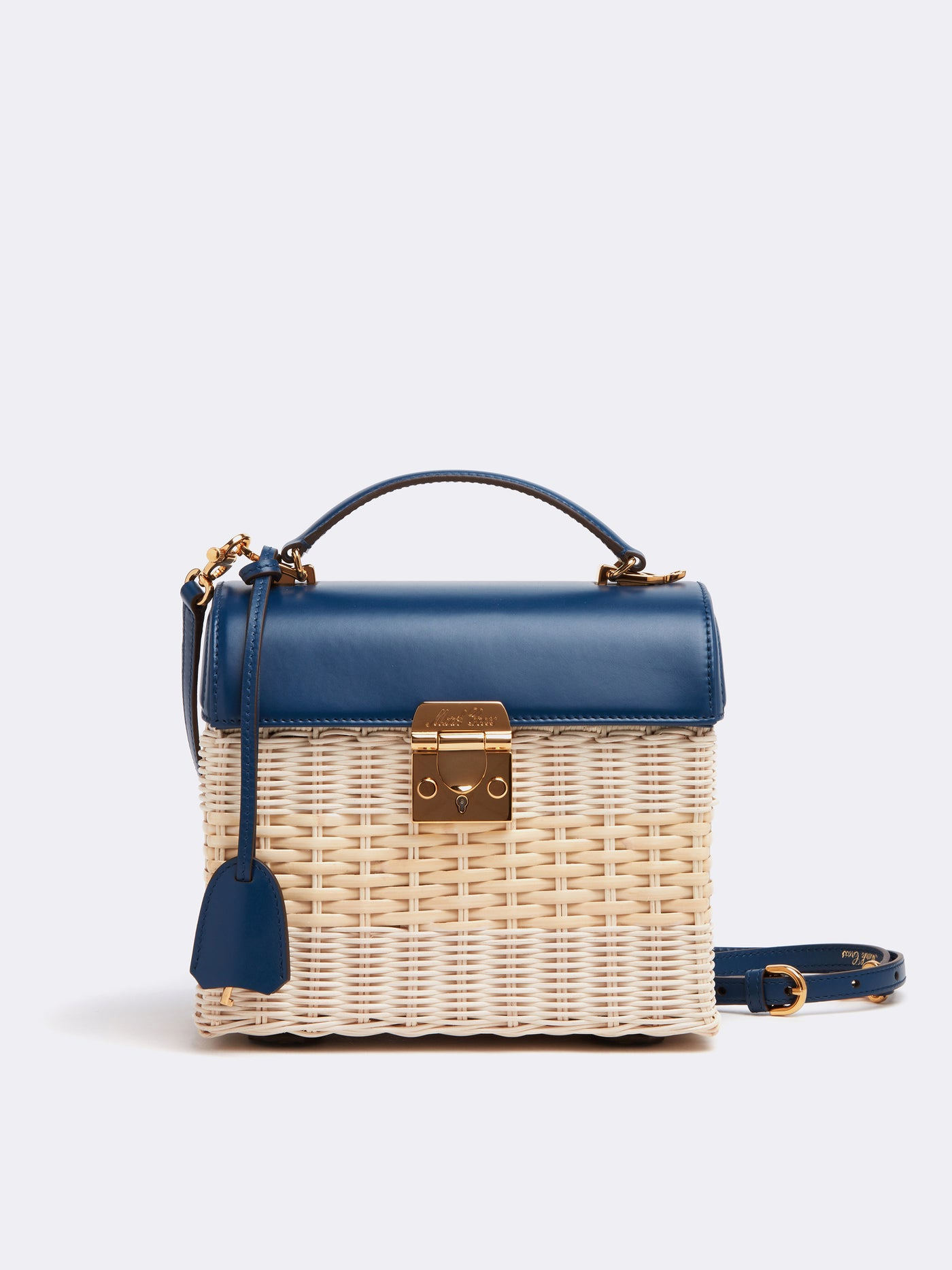 Sara Rattan & Leather Bag
