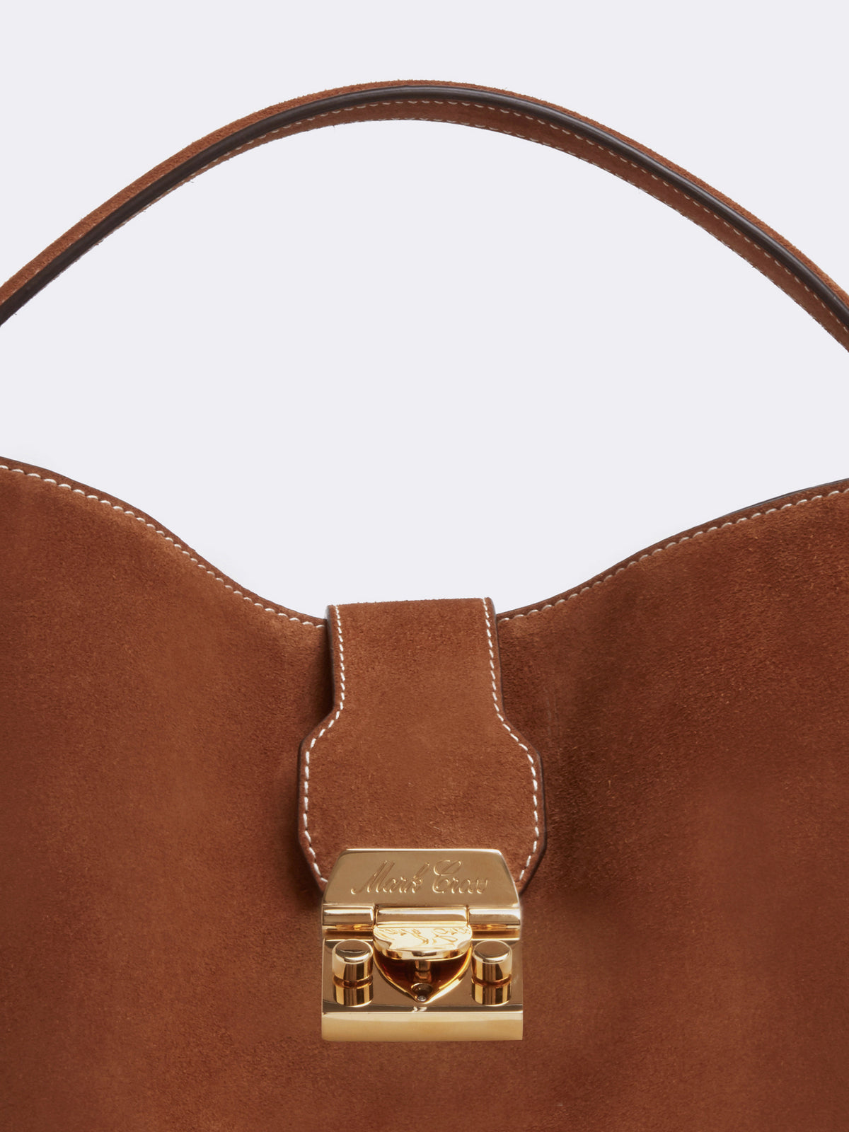 Mark Cross Murphy Large Suede Bucket Bag Suede Acorn Detail