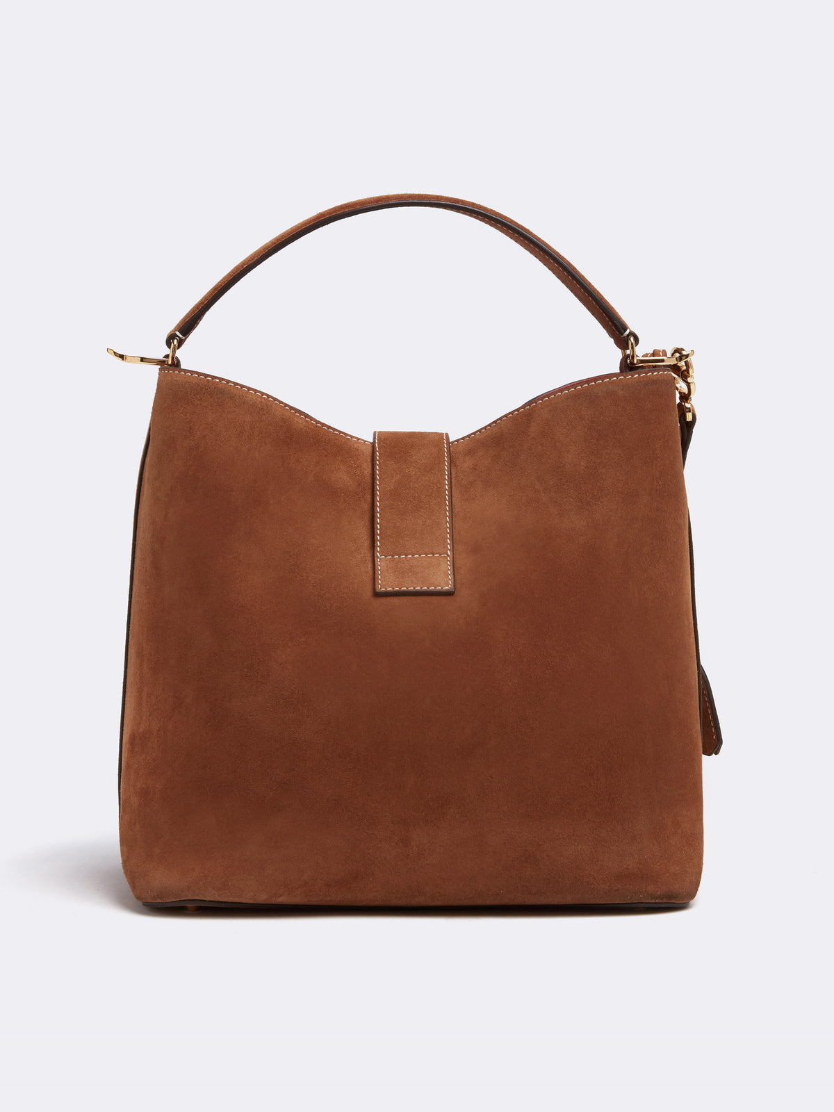 Mark Cross Murphy Large Suede Bucket Bag Suede Acorn Back