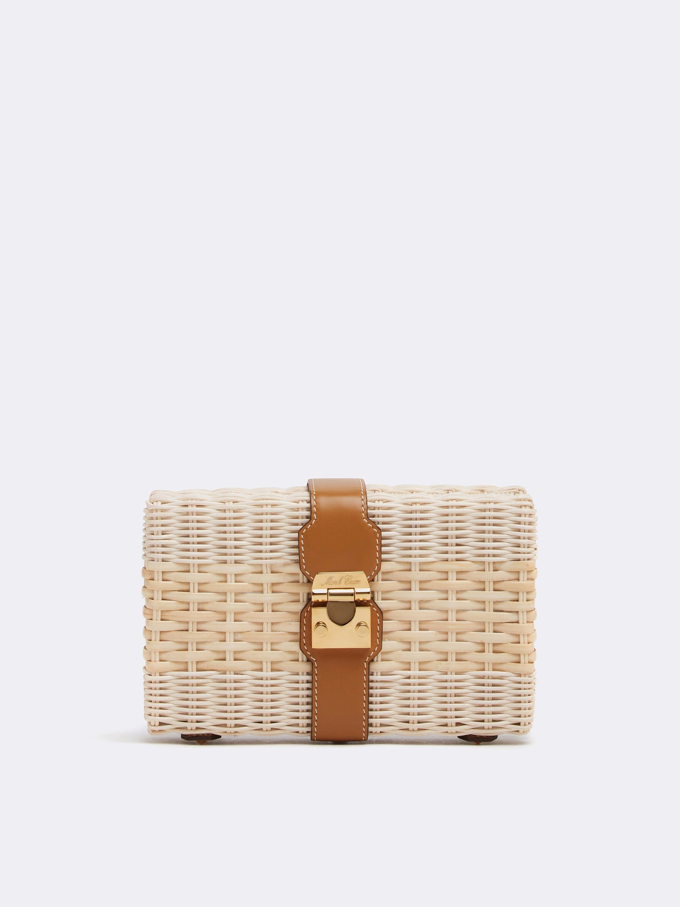 Rattan & Leather Clutch