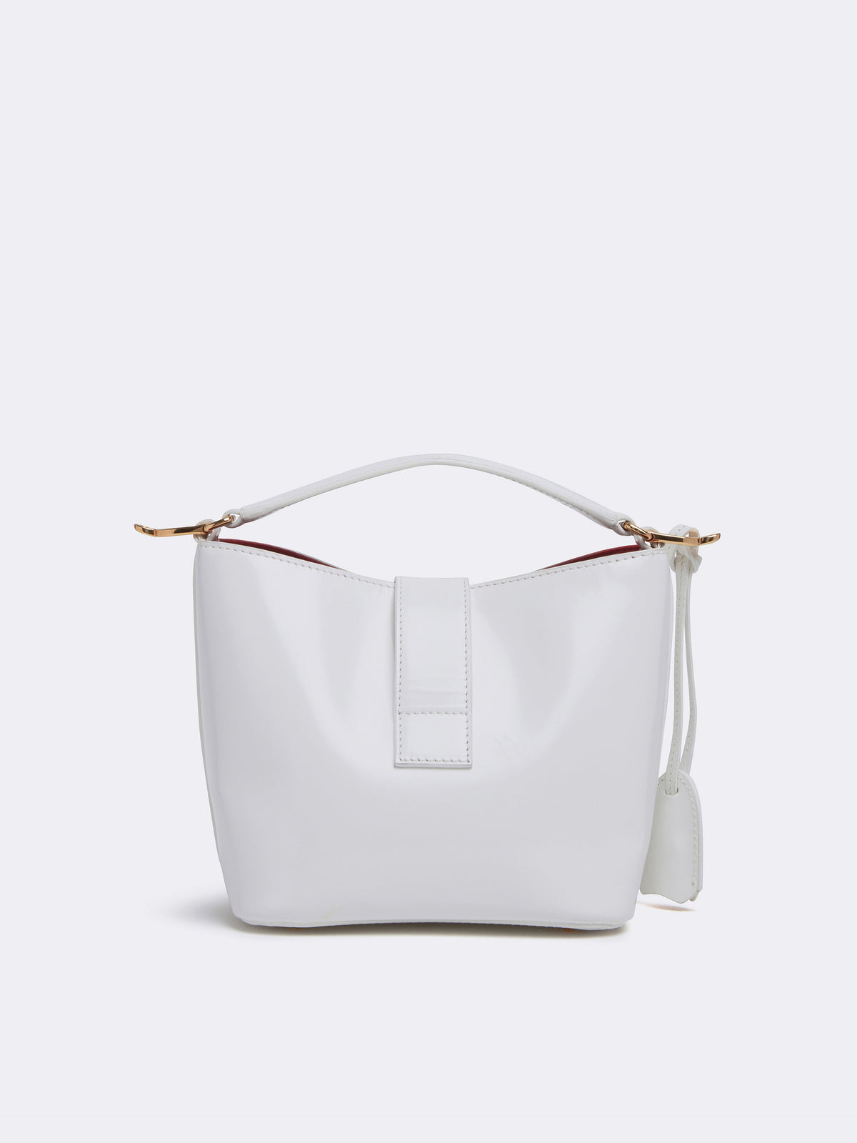Mark Cross Murphy Mini Leather Bucket Bag Brush Off White Back