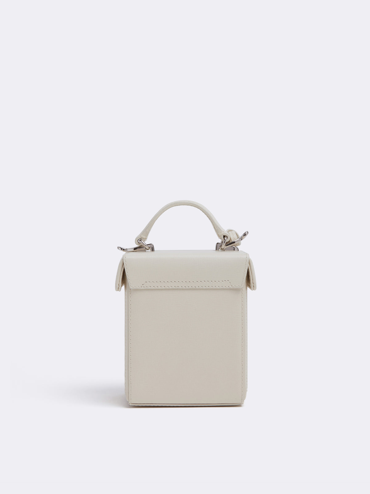 Mark Cross Grace Cube Leather Box Bag Mini Franzi Winter White Back