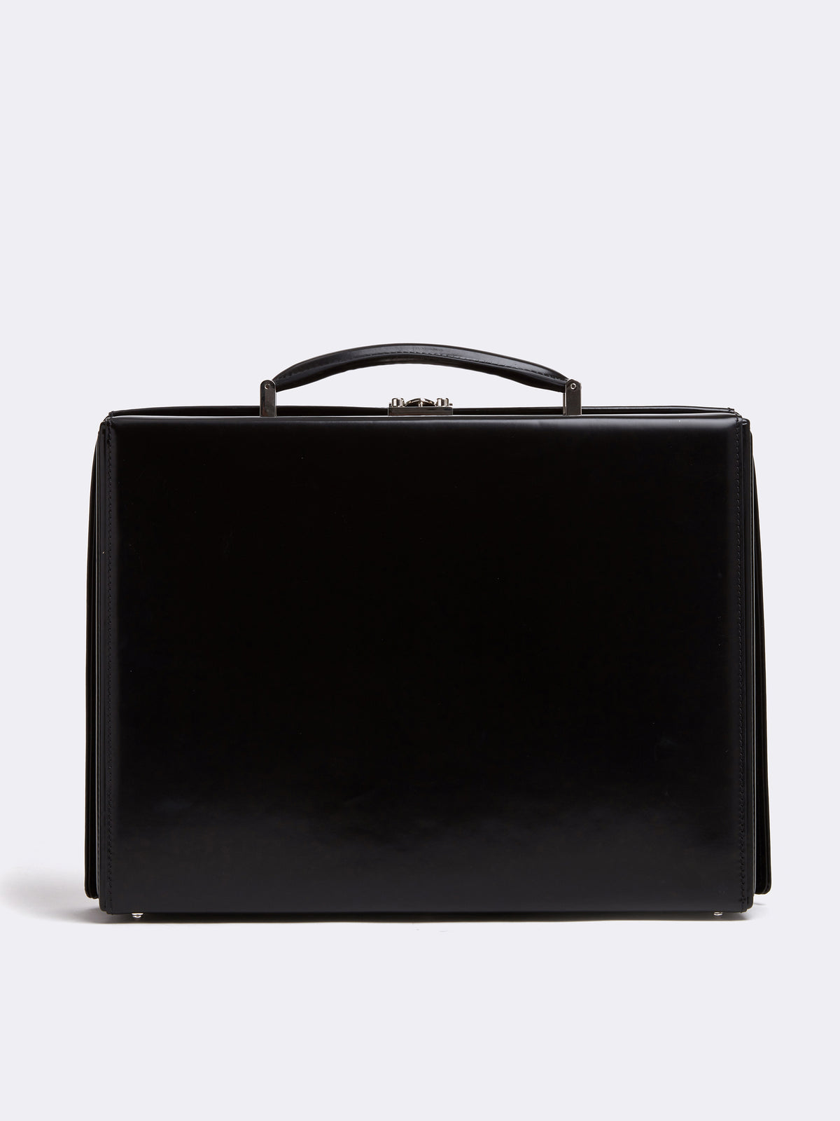 Mark Cross Gerald Leather Briefcase Brush Off Black Back