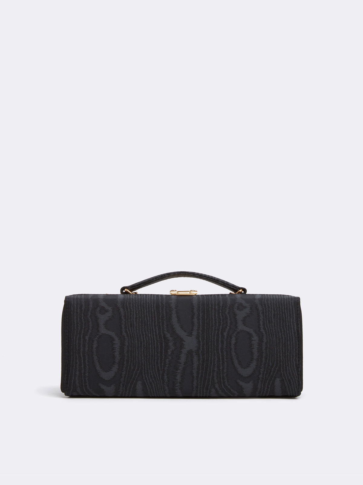 Mark Cross Grace Lungo Box Bag Moire Black Front