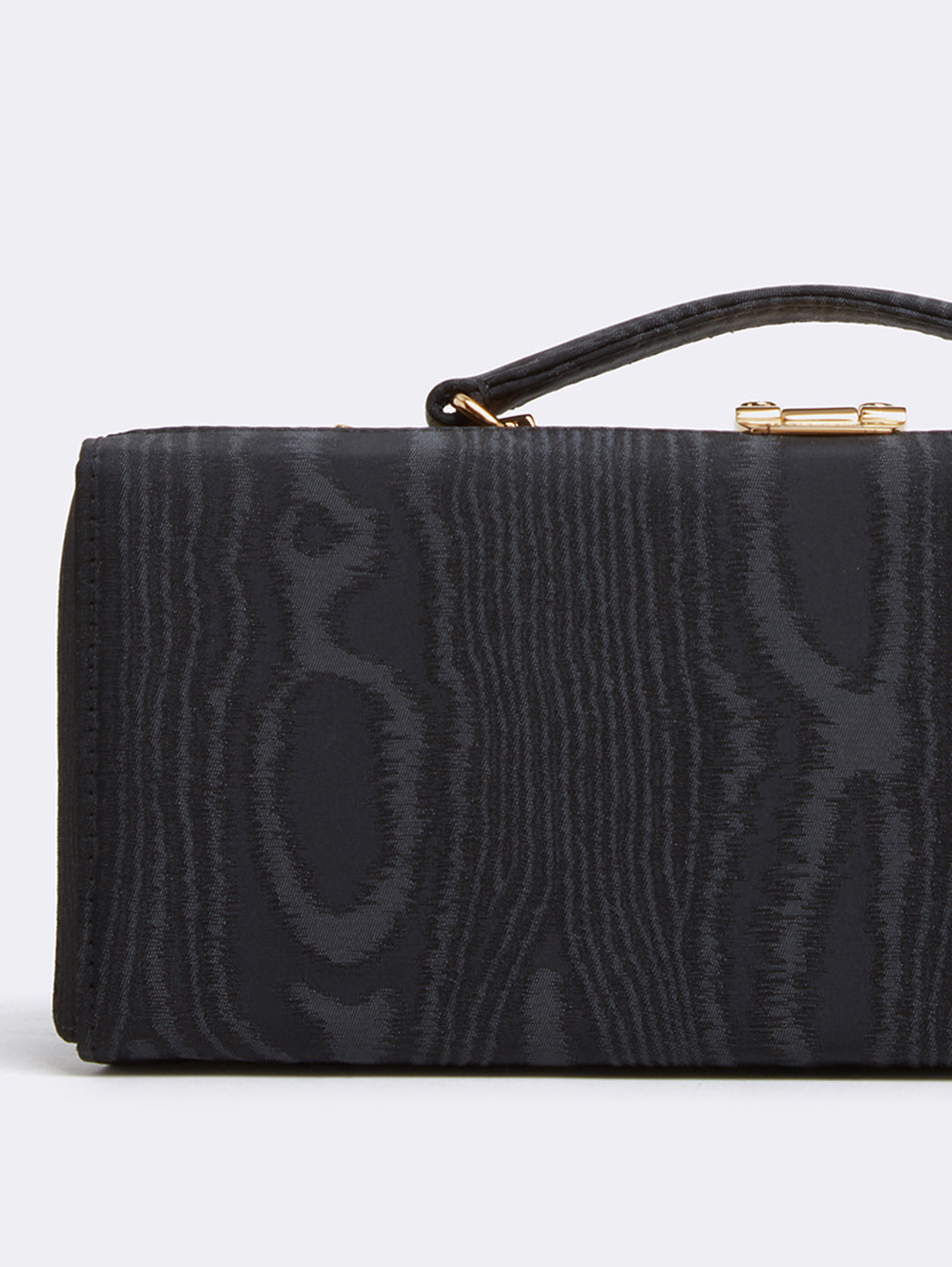 Mark Cross Grace Lungo Box Bag Moire Black Detail