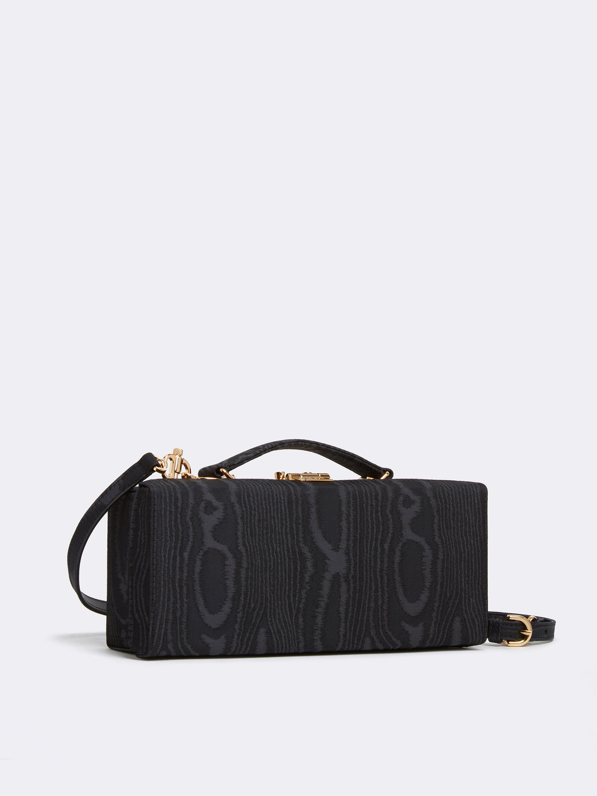 Mark Cross Grace Lungo Box Bag Moire Black Side