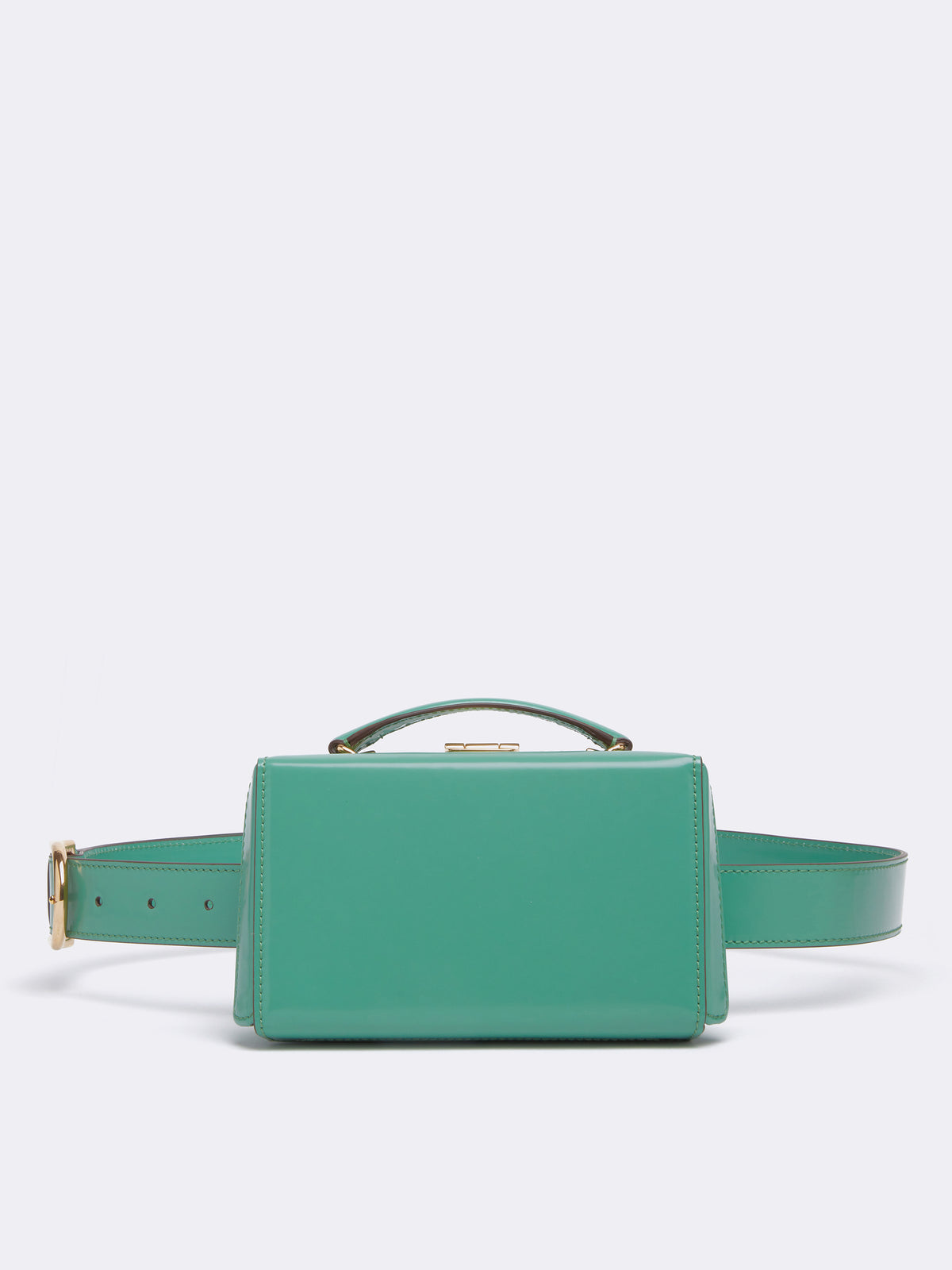 Mark Cross Grace Leather Belt Bag Brush Off Celadon Front