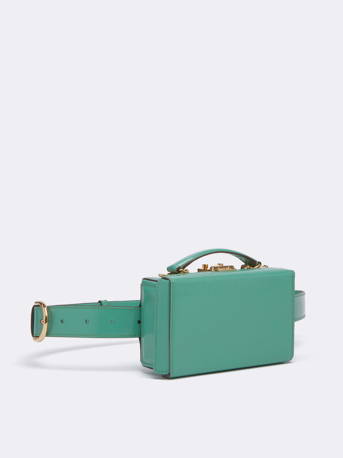 Mark Cross Grace Leather Belt Bag Brush Off Celadon Side