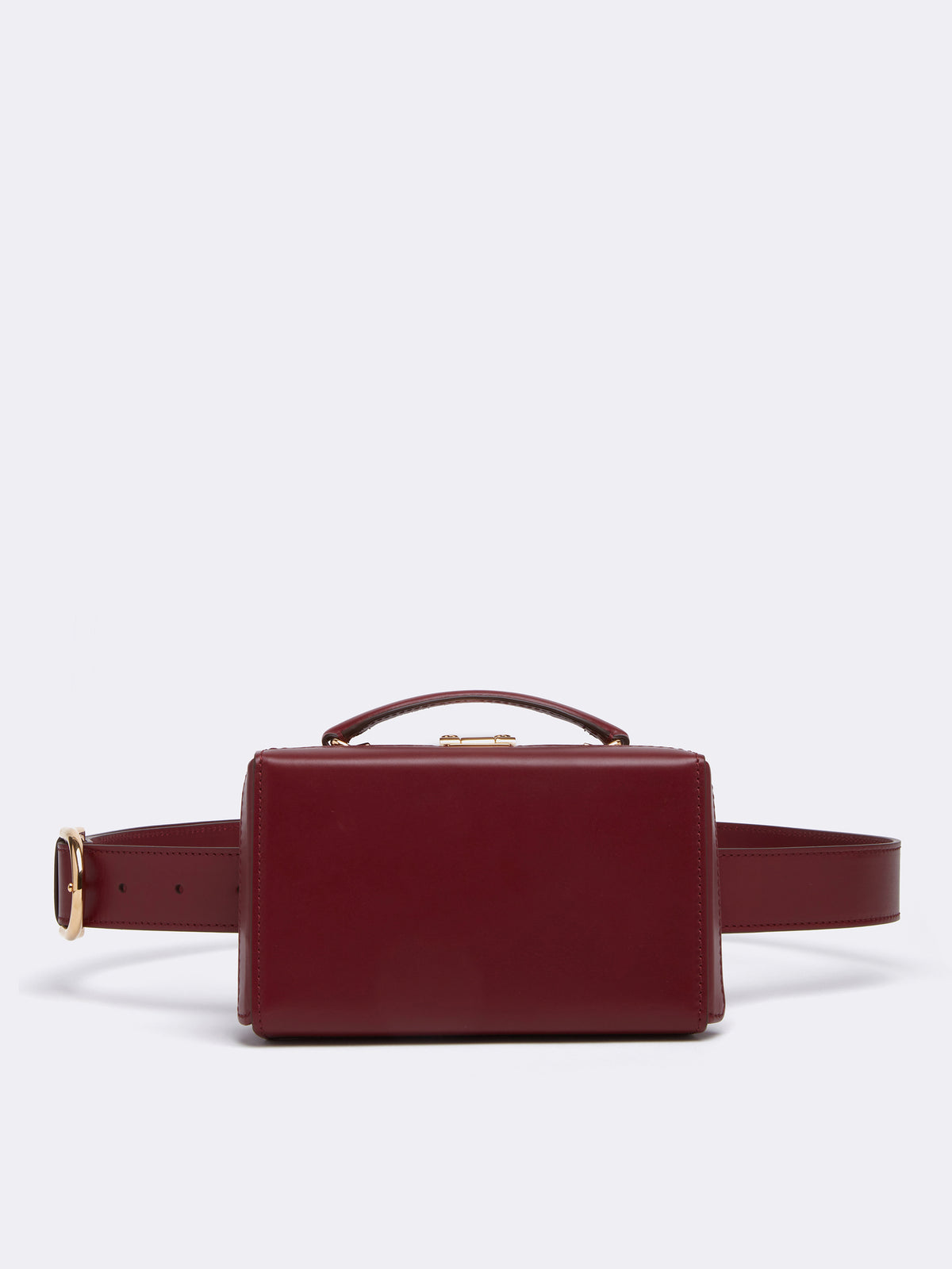Mark Cross Grace Leather Belt Bag Smooth Calf Burgundy Front