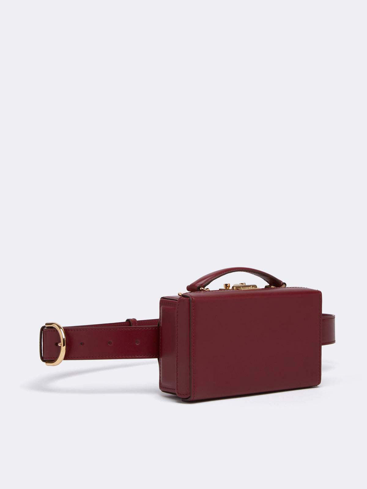 Mark Cross Grace Leather Belt Bag Smooth Calf Burgundy Side