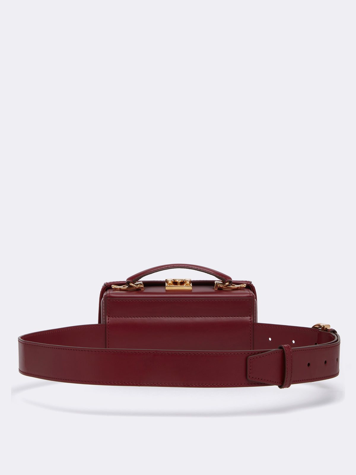 Mark Cross Grace Leather Belt Bag Smooth Calf Burgundy Back