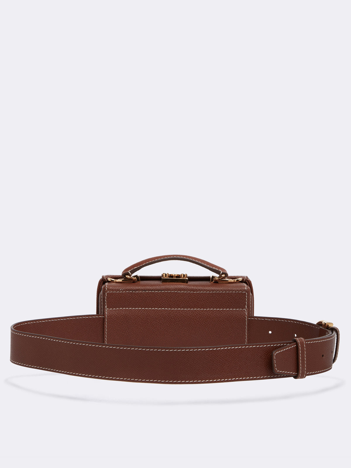 Mark Cross Grace Leather Belt Bag Saffiano Acorn Back