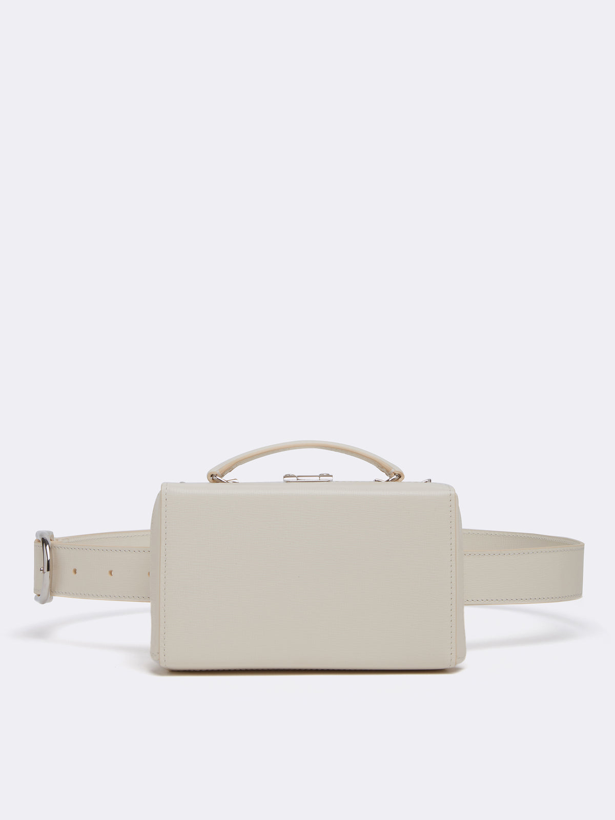Mark Cross Grace Leather Belt Bag Mini Franzi Winter White Front