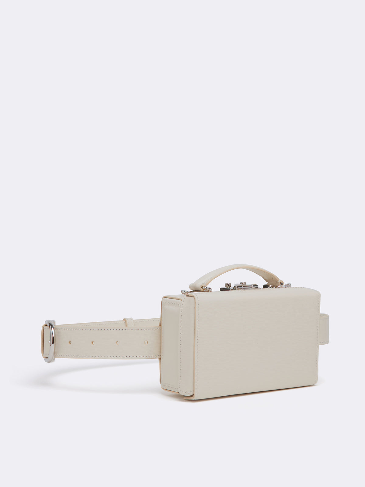Mark Cross Grace Leather Belt Bag Mini Franzi Winter White Side