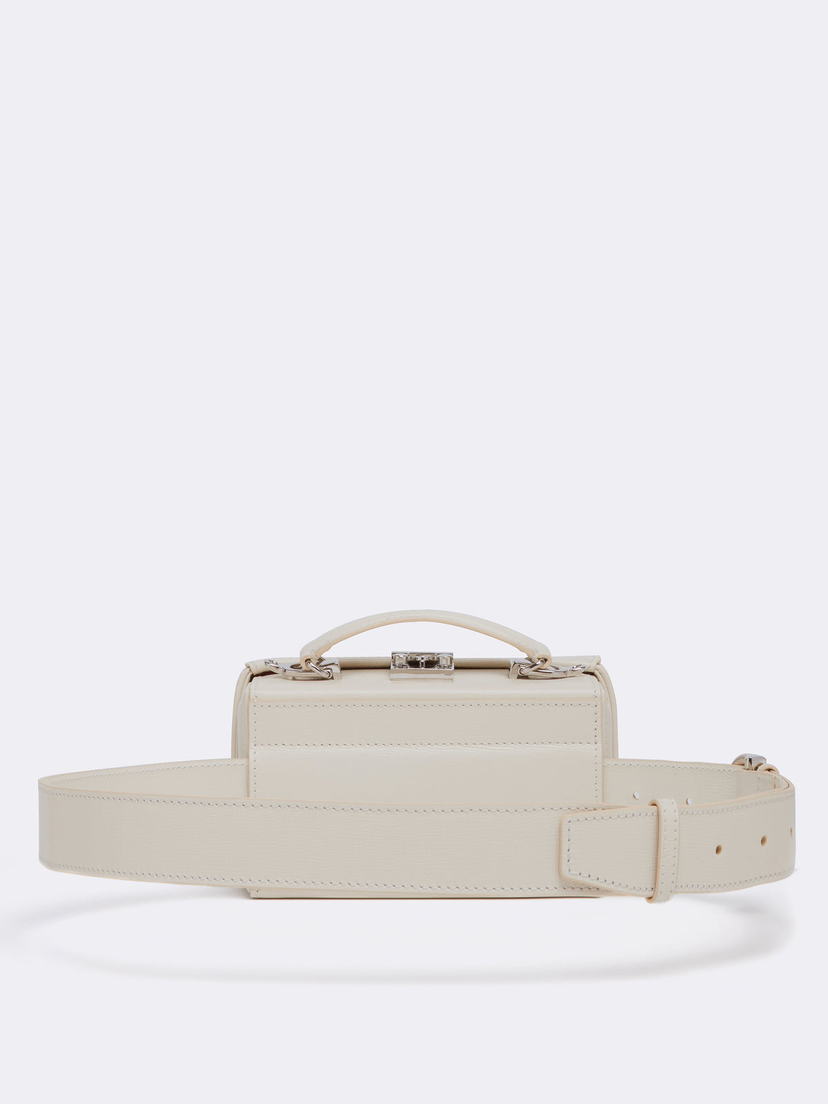 Mark Cross Grace Leather Belt Bag Mini Franzi Winter White Back