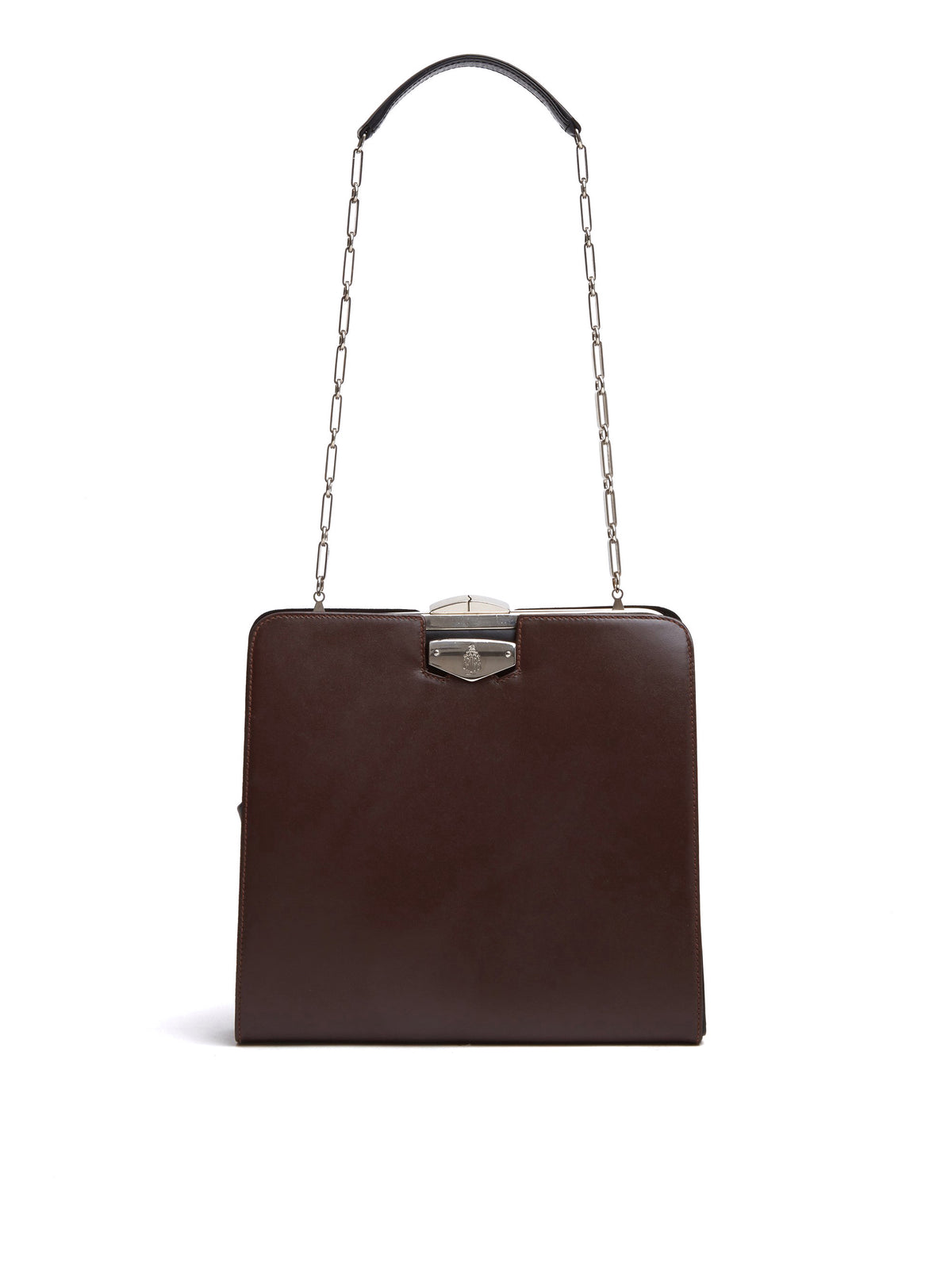 Mark Cross Vintage Convertible Leather Bag Chocolate Front