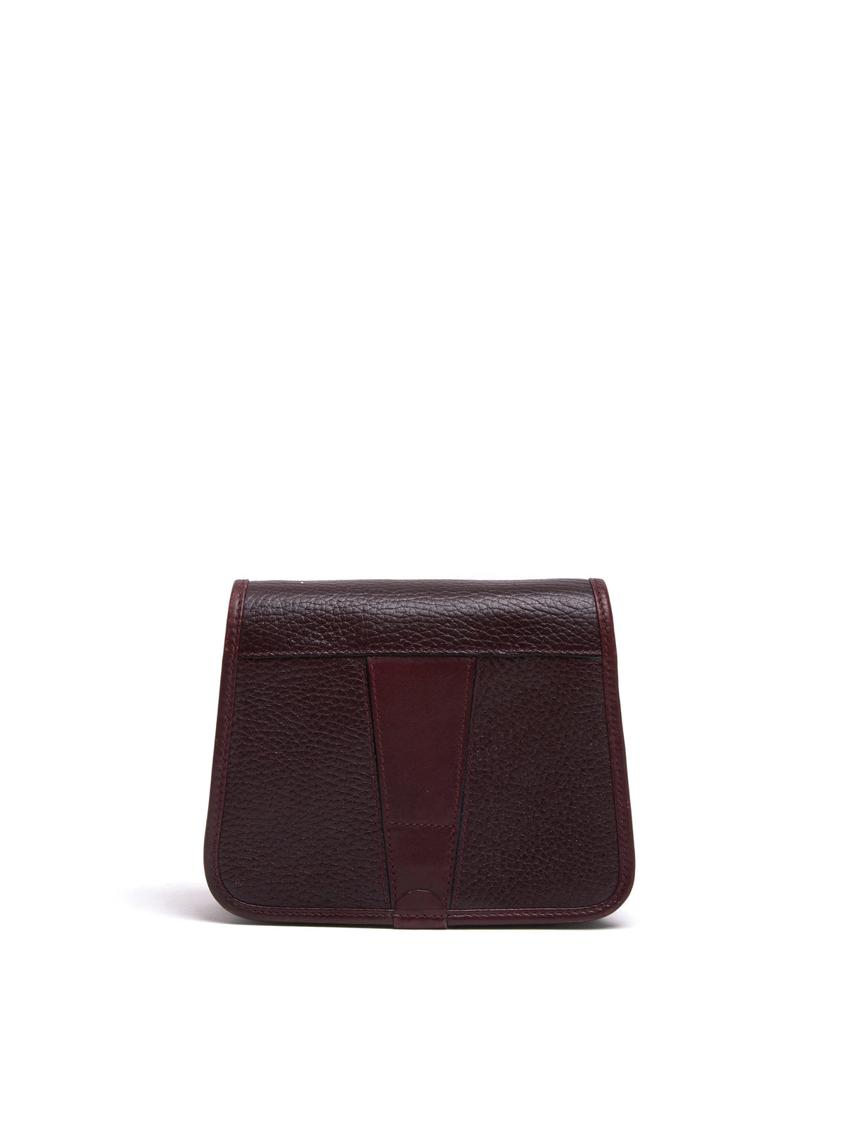 Mark Cross Vintage Mini Leather Crossbody Bag Burgundy Back