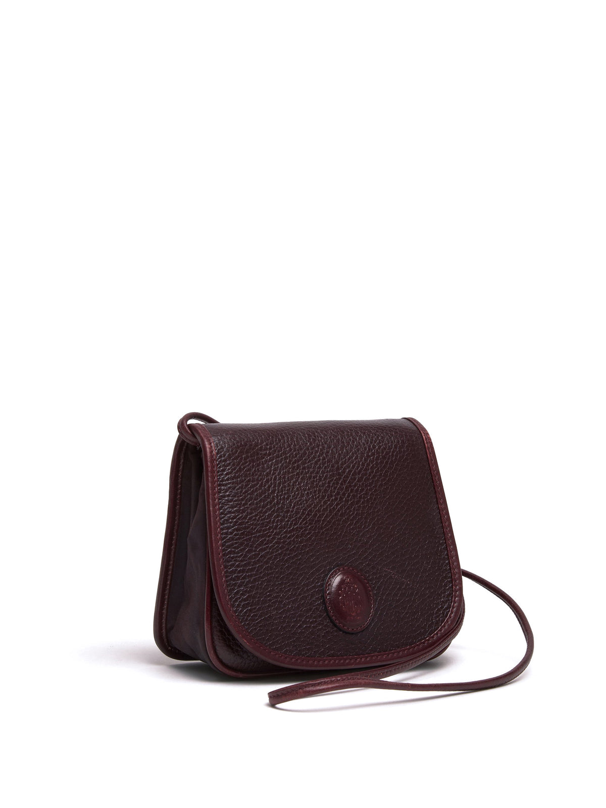 Mark Cross Vintage Mini Leather Crossbody Bag Burgundy Side