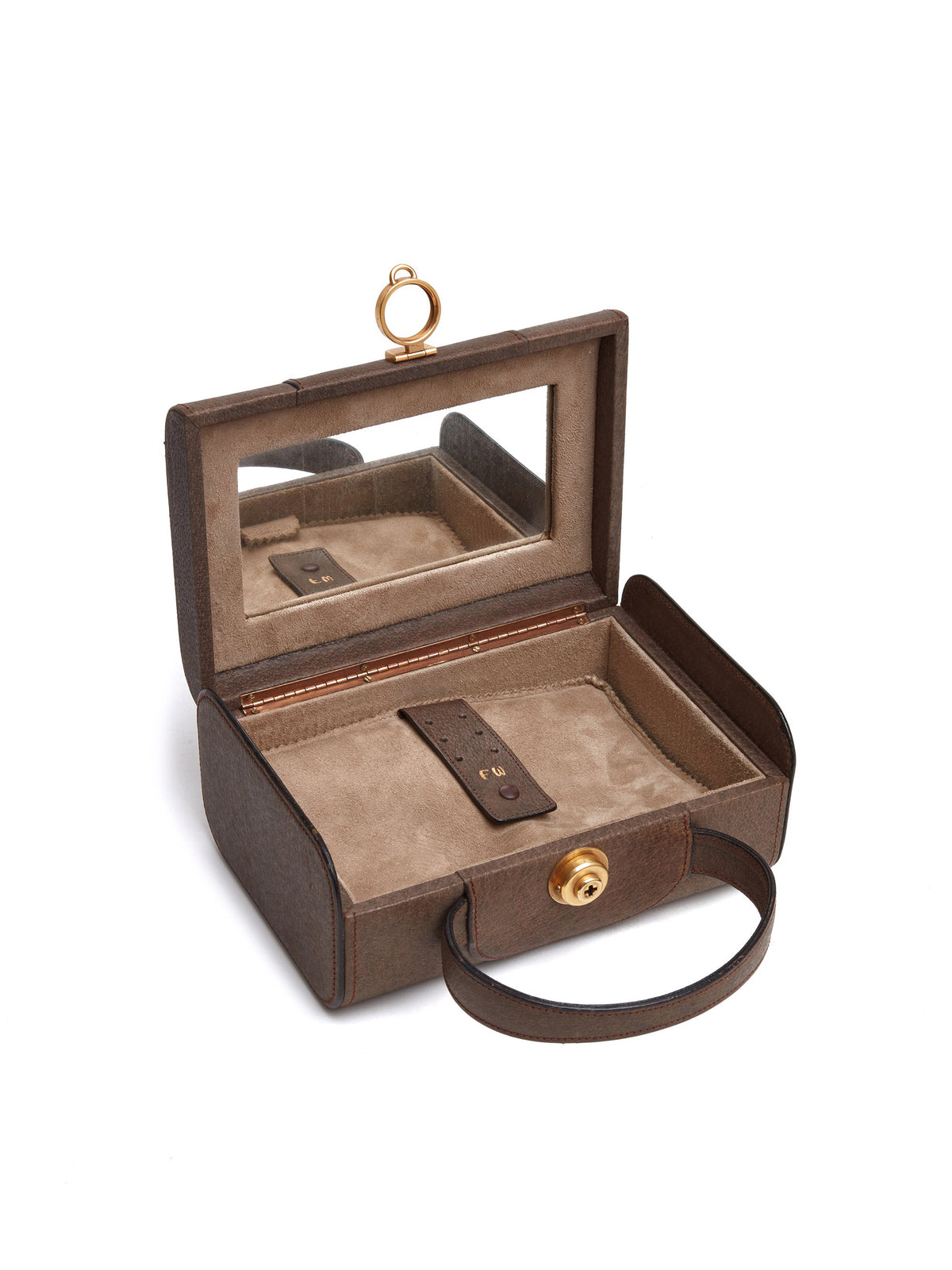 Vintage Leather Jewelry Box