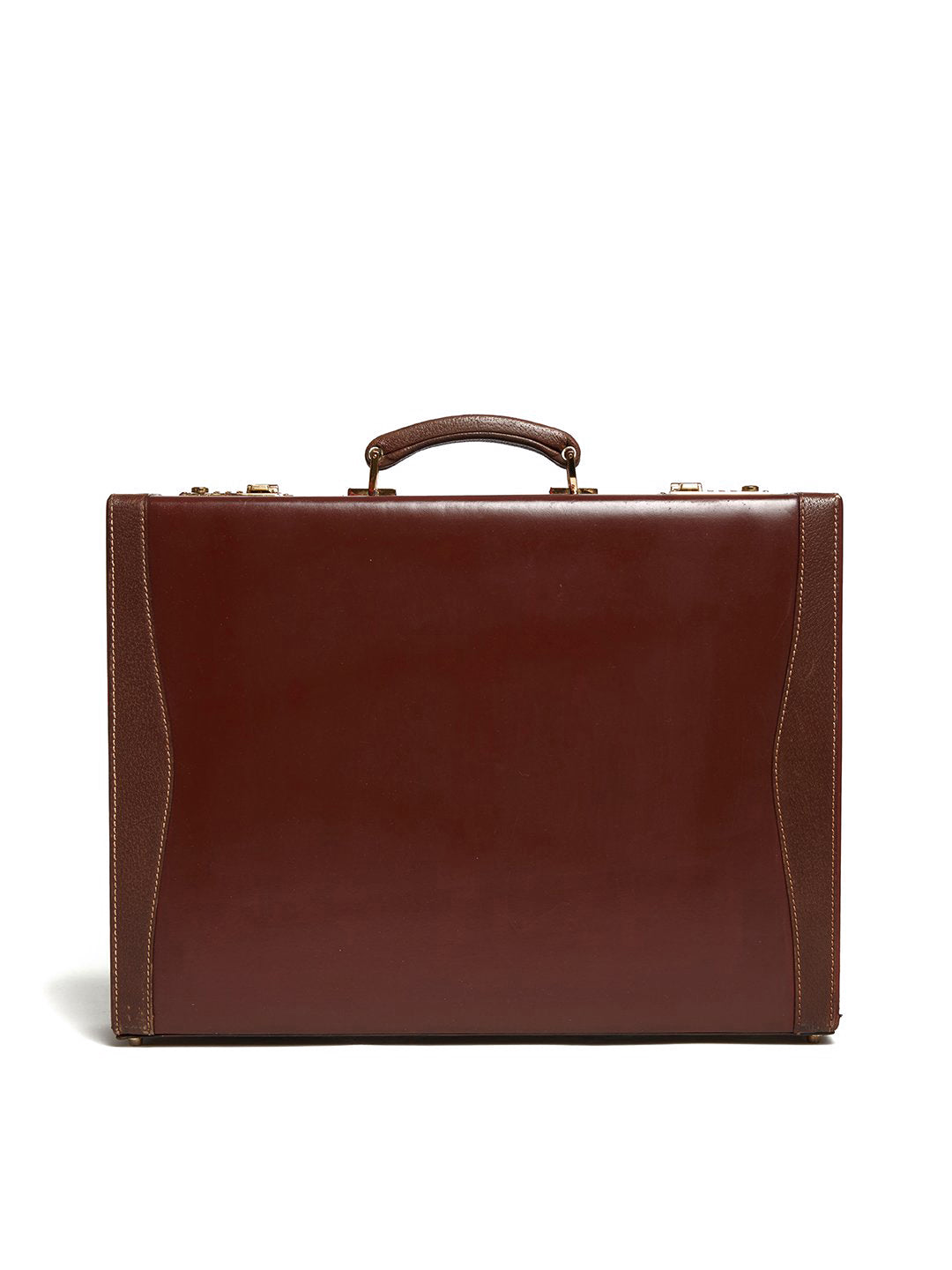 Vintage Leather Hard Sided Briefcase