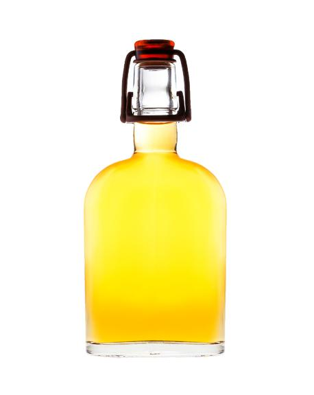 Curve Flask with WHISKY