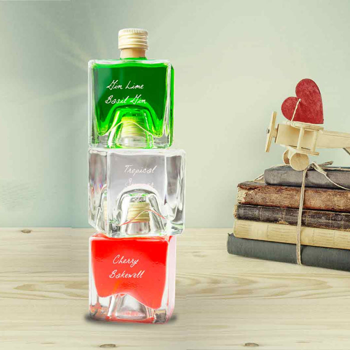 Gin Tower Gift Set - Lime Basil / Summer Gin / Cherry Bakewell