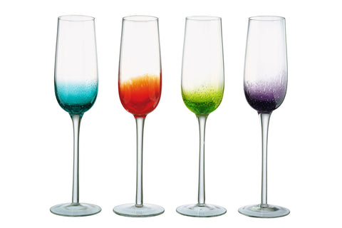Fizz Champagne Flutes - Set of 4