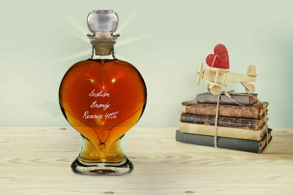 Heart Decanter 200ml with Italian Brandy