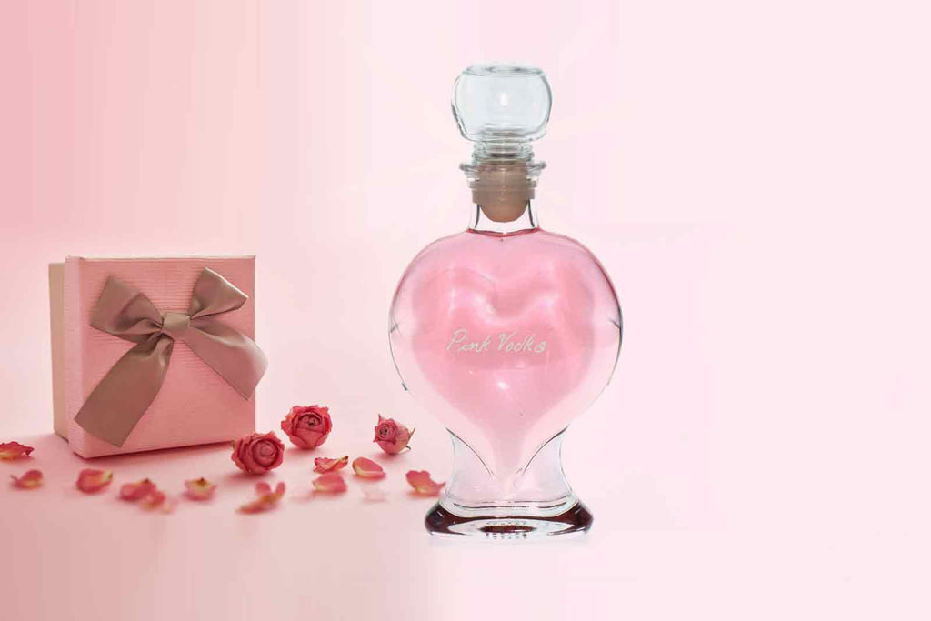 Pink Vodka with Heart Decanter