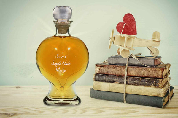 "Heart Decanter 200ml with Whisky ""Tormore"""