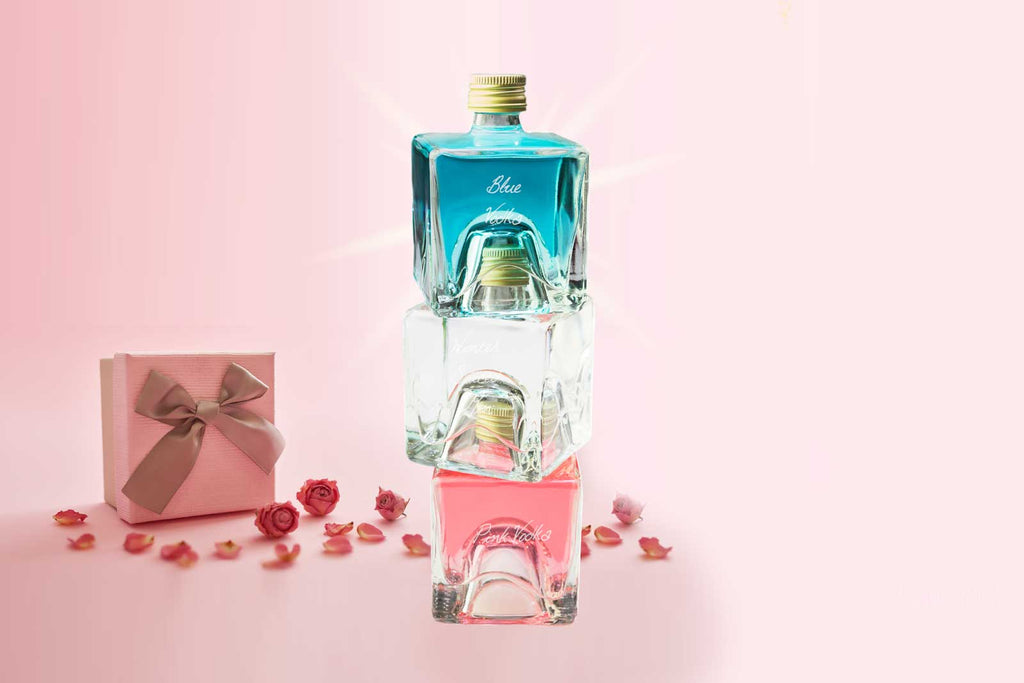 Vodka Tower Gift Set - Blue Vodka / Fig vodka / Pink Vodka