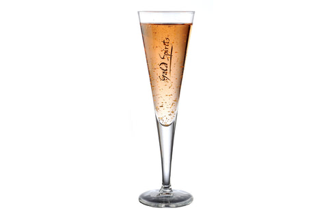 Gold Spirits Champagne Glasses - Set of 6