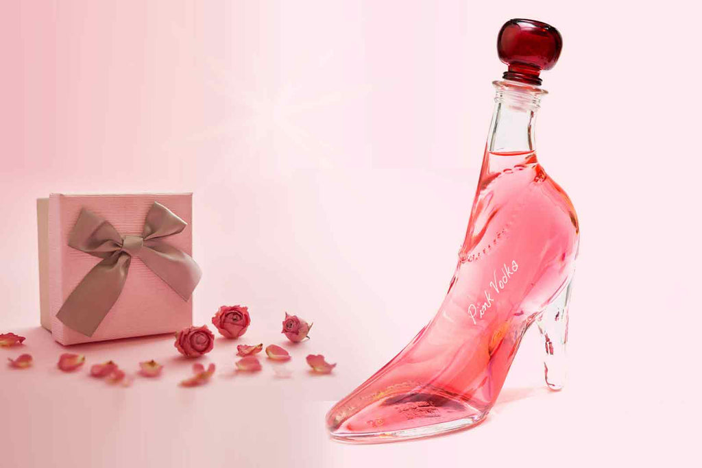 Lady Shoe with Pink Vodka