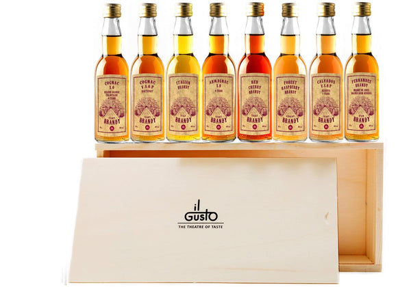 Miniature Brandy Gift Set ( Pack of 8 x 40ml )