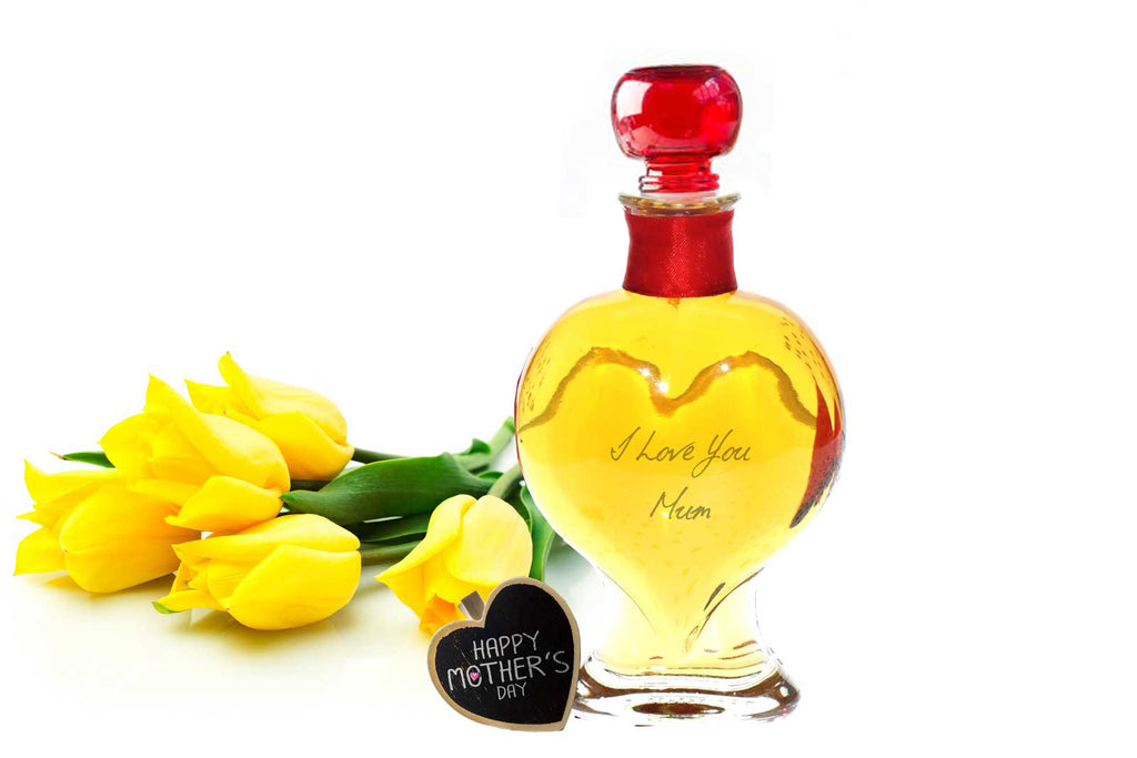 Heart Decanter 200ml with Rhubarb Gin - 26%