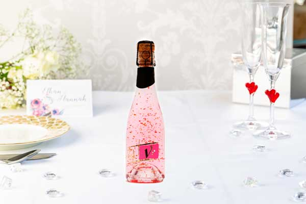 Sparkling Pink Vodka Gold with edible 22 carat gold flakes - 200ml