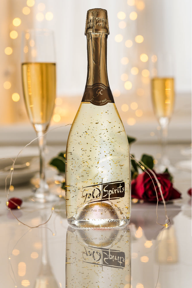 Sparkling Gold Cuvee Original with edible 22 carat gold flakes Collection