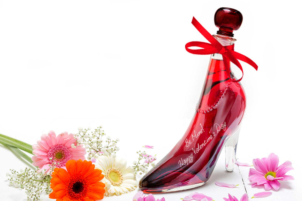 Valentine's Day Gift Lady Shoe with Sour Cherry Vodka