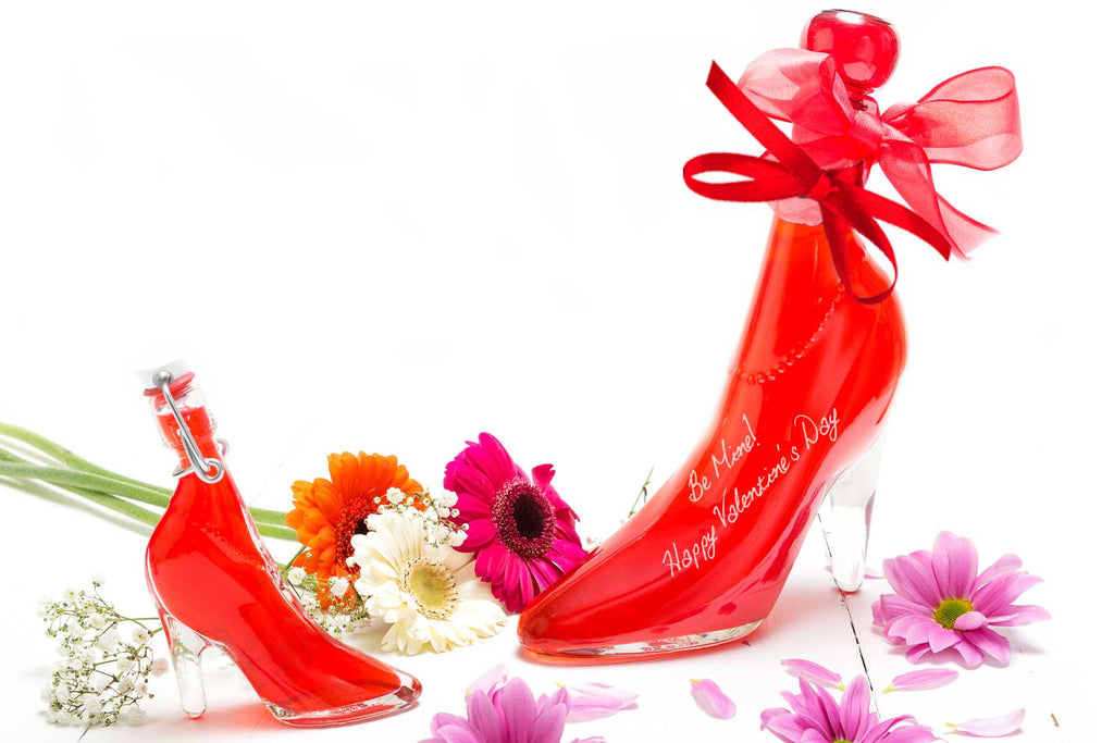 Valentines Day Gift Lady Shoe with Blood Orange Vodka