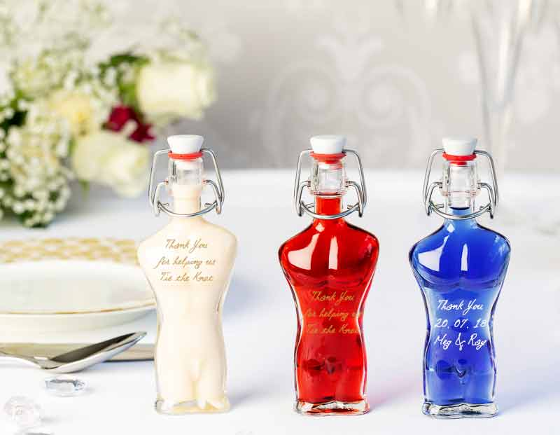 IL Gusto wedding favours - adam bottle