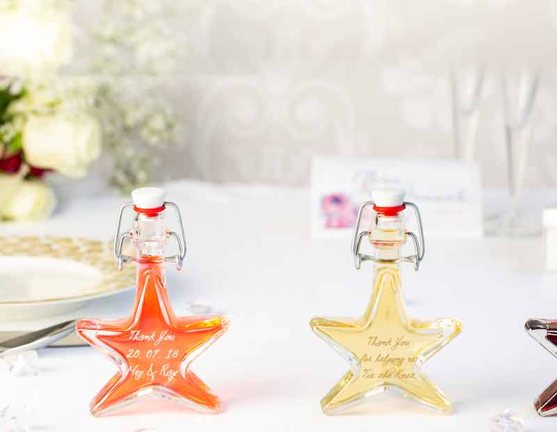 IL Gusto wedding favours - star bottle