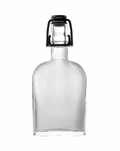 ilgusto glass curve flask bottle